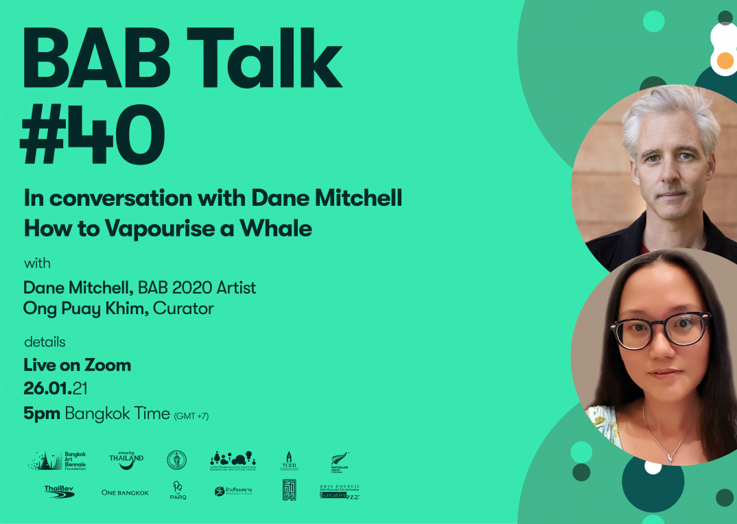 BAB Talk #40 | How to Vapourise a Whale with Dane Mitchell and Ong Puay Khim